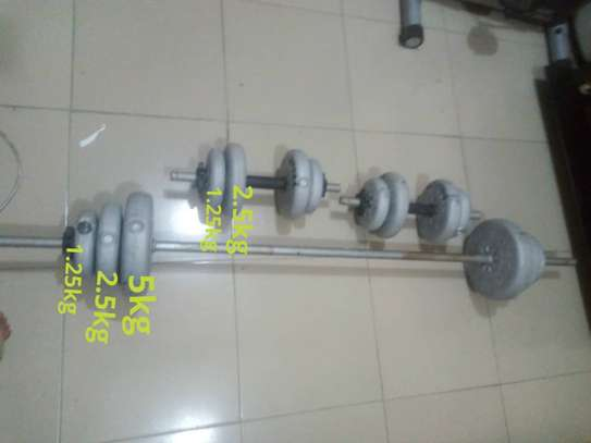 Dumbells and Barbell set