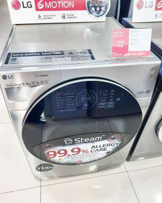 LG 12kg Wash /8kg Dry Silver Washer / Dryer Combo (TWINWash Upgradable) image 1