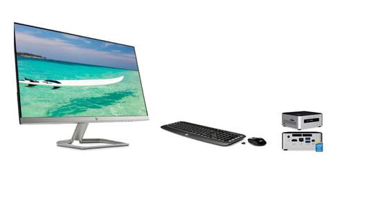 """Intel NUC PC With HP 27"""" Monitor"""