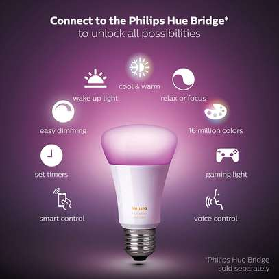 Philips Hue White and Colour Ambience Single E27/B22 Bulb - 16 Million Colours image 9