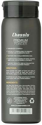 Chassis Premium Body Powder for Men, Unscented image 2