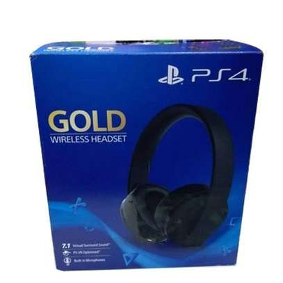 playstation wireless Gold Headset image 2