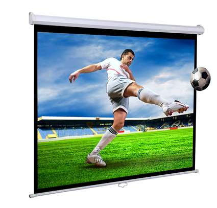 Manual Projector Screen - 150 Inches image 1