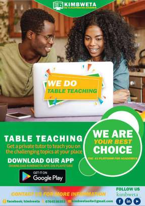 TABLE TEACHING/PRIVATE TUTORS/QUESTION SOLVING
