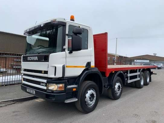 1999 Scania 114 380 8X4 FLATBED WITH SPRING SUSPESION