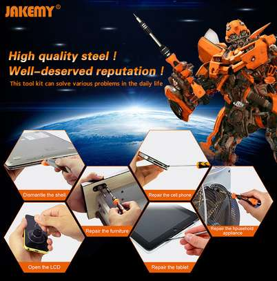 JAKEMY JM-8139 45 in 1 Screwdriver Set with Knives/Tweezers/Spudger/Suction Cup toolkit image 3