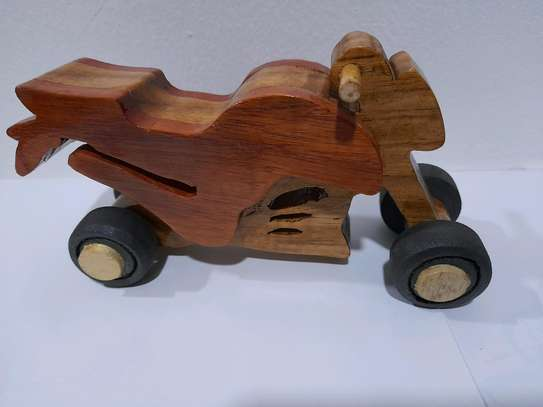 Wooden toy bike image 1