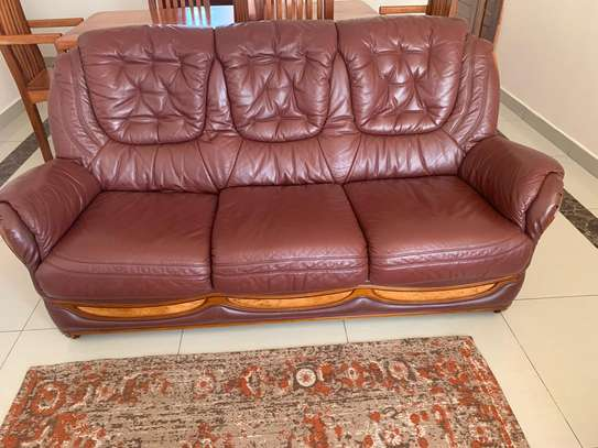 Pure Leather Sofa Set