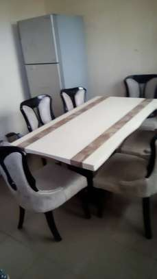 Dinning table,fridge na microwave for sale image 2