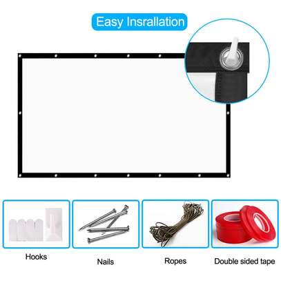 Foldable Projector Screen - 100 Inches image 4