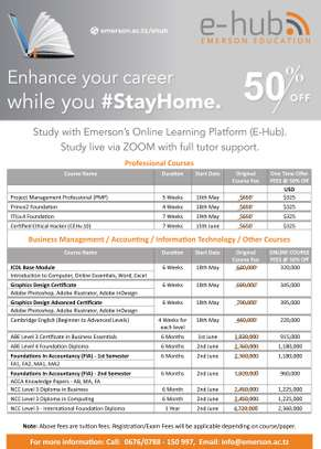 Enhance your Career while you #StayHome. 50% OFF on All Courses