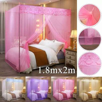 Mosquito Net Three Open Door 1.5m1.8 Meters Double Bed Encryption Stable Bracket Home image 2