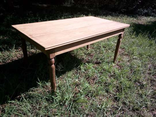Original Restored Colonial Dinner table 3x6 feet with benches image 1