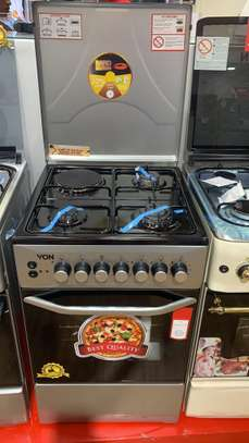Von Hotpoint Cooker 50X50 F5C40E2.S 3Gas+1Electric+ Electric Oven - Silver.