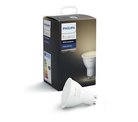 Philips Hue White Ambiance Smart GU10 LED | Bluetooth, Works with Alexa and Google Assistant image 1