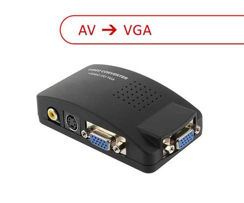 AV to VGA Converter Video TV to PC Signal Adapter Switch Box image 1