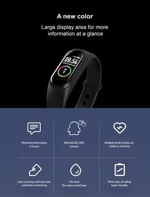 Rovtop M4 Smart band 4 Fitness Tracker Watch image 5
