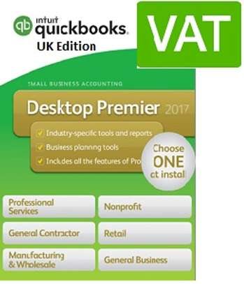 QuickBooks Premier UK 2018 (Multiusers+VAT) + Training
