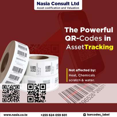Asset barcode labels & Asset Coding & Tags & Stickers image 2