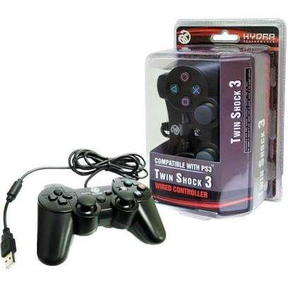Twin shock 3 wired controller-Compatible with PC & PS3