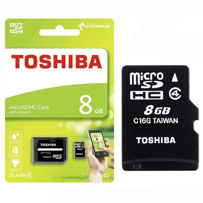 Toshiba High Speed microSD™ Card 8GB with Adapter image 1