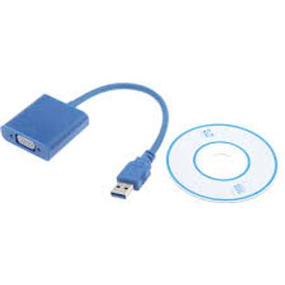 USB 3.0 to VGA Multi-display Adapter Converter External Video Graphic Card image 1