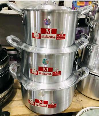 Maxima Stainless Steel Cookware set 3PCs..160,000/= image 1