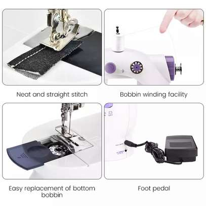 Electric Mini Sewing Machine for Home Hand Machine to Sew AC110-240V Speed Adjustment with led Handheld Sewing Machine image 3