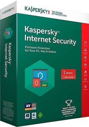 Kaspersky Internet Security 2019 1 Device 1 Year - Digital Key Only