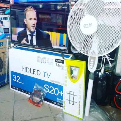COMBO OFA!...GTM LED TV+GTM STANDING FAN+WALL BRACKET+HDMII CABLE....375,000/= image 1