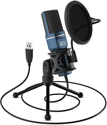 Condenser PC Mic with Tripod Stand & Pop Filter image 1