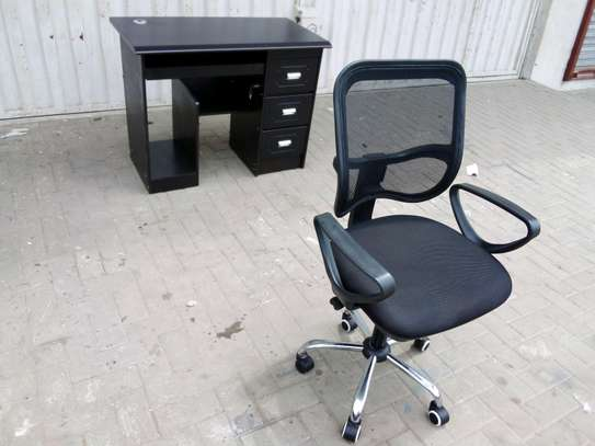 Office chair and table image 1