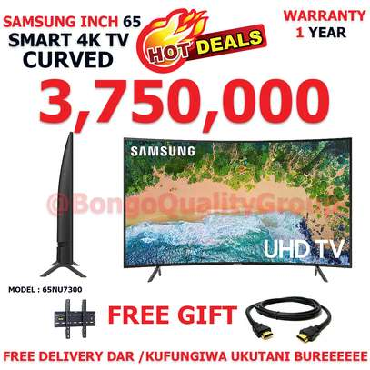 "SAMSUNG INCH 65"" Class NU7300 Curved Smart 4K UHD TV"