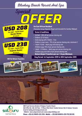 Blue Bay Beach Resort and Spa - Special East African  Resident offer