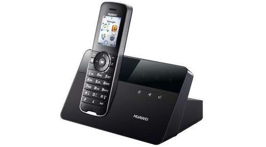 Desk phone with wireless receiver