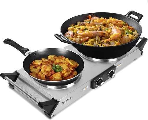 SPRING DEAL: Duronic Hot Plate HP2SS   Table-Top Cooking   2500W   Stainless-Steel Electric Single Hob with Handles image 1