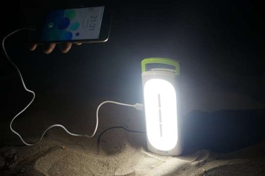 Lontor Rechargeable Emergency light With Power Bank image 2
