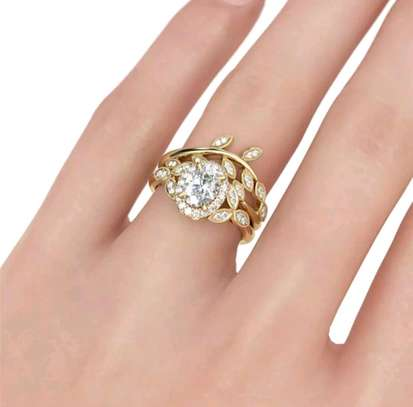 Gold Engagement Ring image 2