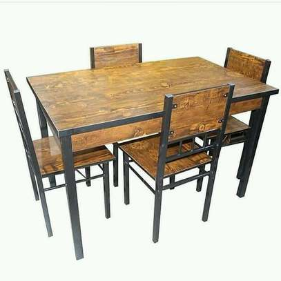 DINING TABLE with 4 CHAIRS image 1