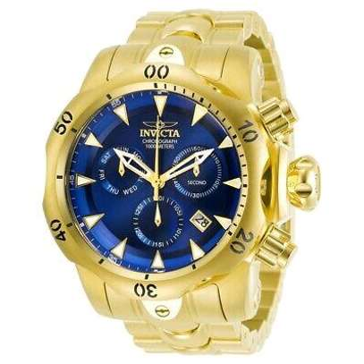 Invicta Original Chronograph Gold & Blue Men Watch