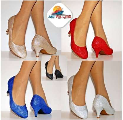 WAREMBO: Womens Ladies Low kitten Heel Evening Party Bridal Court Shoes