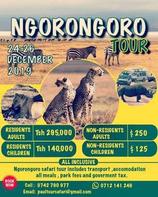 3 Days and 2 Nights to Ngorongoro Tour December Holidays 2019