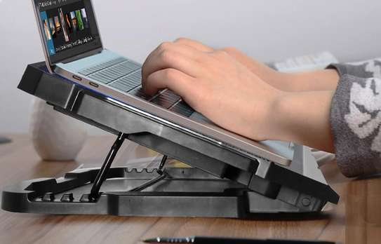 S18 4 Fans Universal Notebook Stand and Cooling Pad Cooler Fan For Laptop image 3