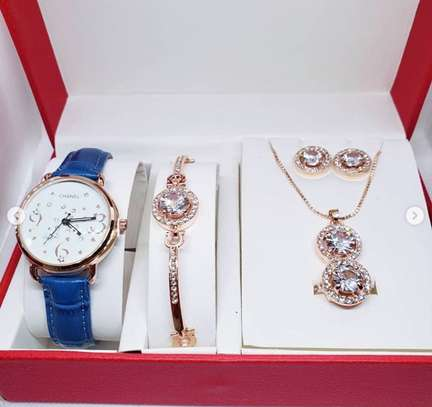 Fashion Watch & Pendants Set