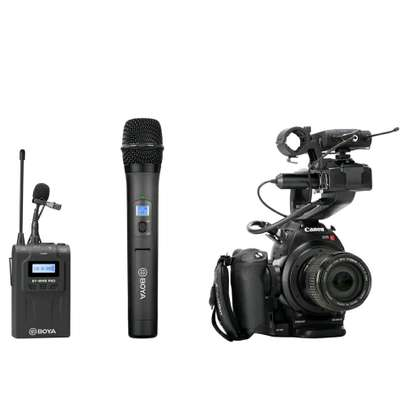 BOYA BY-WHM8 Pro Lavalier and Handheld Microphone UHF Wireless Unidirectional Dynamic Mic image 3