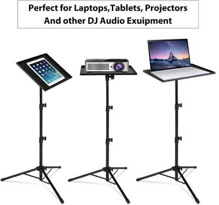 Best Selling Folding Floor Tripod Stand Portable DJ Equipment Stand Projector/Universal Laptop Tripod Stand For Stage or Studio image 2