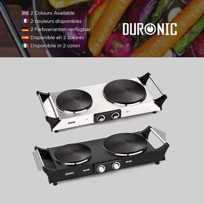 SPRING DEAL: Duronic Hot Plate HP2SS   Table-Top Cooking   2500W   Stainless-Steel Electric Single Hob with Handles image 2