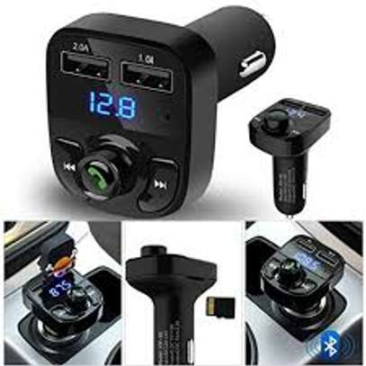 Car X8 Dual USB Bluetooth Car Charger & FM Transmitter MP3 Player image 1