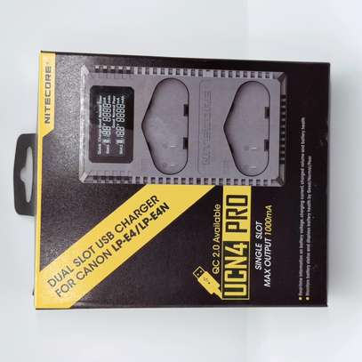 NITECORE UCN4 PRO 2-Slot USB Charger for Canon LP-E4 & LP-E4N Camera Batteries image 1
