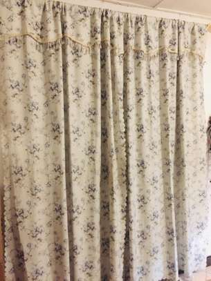 2 curtain sets with poles image 1